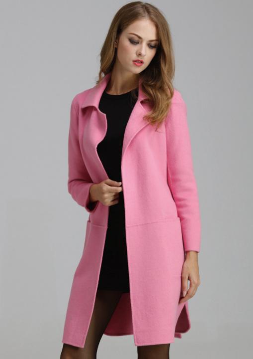 羊絨大衣外套定制 梅州雙面羊絨大衣 艾菲揚一手貨源
